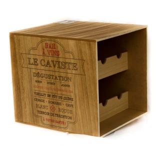Cave à vin en bois - 6 Bouteilles - Le caviste
