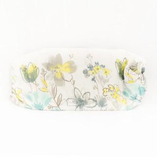 Housse à repasser T3 Duo - De 121 à 130 cm - Blanche fleurs bleu/gris/jaune