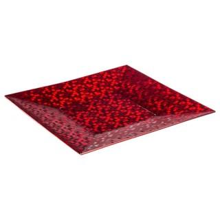 Assiette de présentation Pixel - Vaiselle de Noël - Rouge