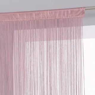 Rideau fils - 90 x 200 cm - Rose pale