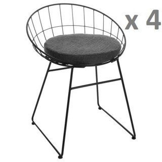 Lot de 4 - Chaise design Modern - Noir
