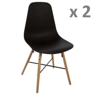 Lot de 2 - Chaise Esco - Noir