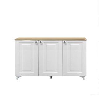Buffet 3 Portes Rosalie - L. 120 x H. 72 cm - Blanc