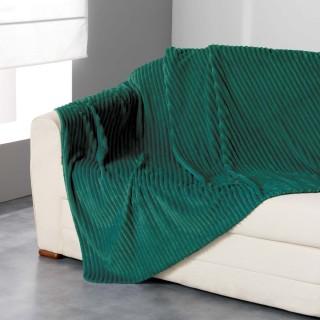 Plaid flanelle jacquard Zeline - 180 x 220 cm - Vert