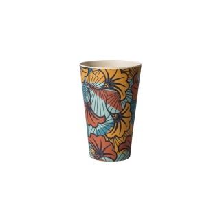 Verre en fibre de bambou Wax - H. 13 cm - Multicolore