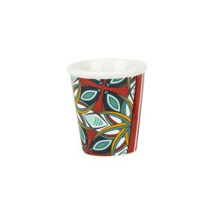 Tasse à expresso ethnique Wax - 70 ml - Rouge