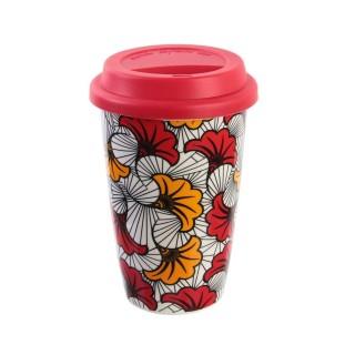 Mug de voyage Wax - Double paroi - Rouge