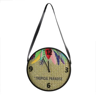 Horloge murale Exotic - Diam. 30 cm - Beige
