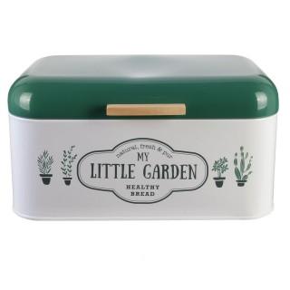 Boîte à pain Little Market - Métal - Vert foncé