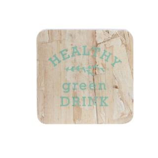 4 Dessous de verre en bois Little Market - Turquoise