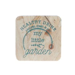 4 Dessous de verre en bois Little Market - Bleu