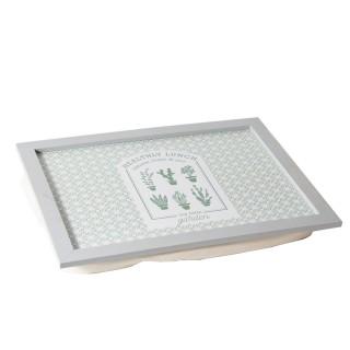 Plateau de lit avec coussin Little Market - L. 43 x l. 32 cm - Blanc