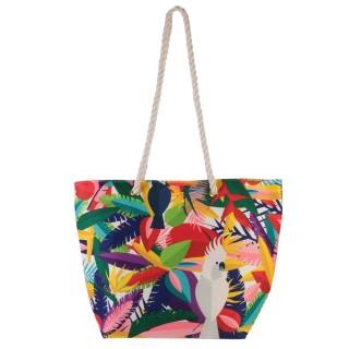Sac de plage perroquet Exotic - L. 50 x H. 35 cm - Multicolore