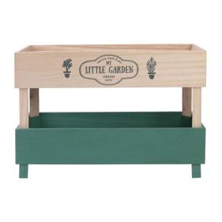 Etagère Little market - L. 36 x H. 25 cm - Marron et vert