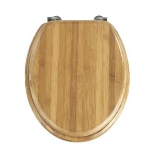 Abattant WC Bambou - Fixation métallique - Marron