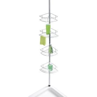 Etagère de douche extensible Dolcedo - L. 31 x H. 65/275 cm - Argent