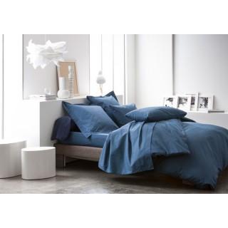 Housse de couette Ciel d'orage - 100% coton 57 fils - 140 x 200 cm - Bleu foncé