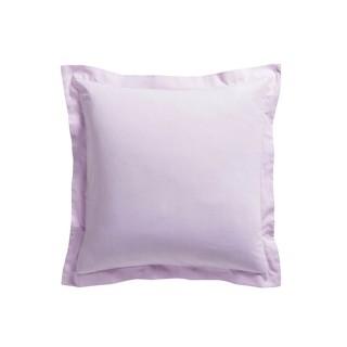 Taie d'oreiller Poudre de lila - 100% coton 57 fils - 75 x 75 cm - Rose