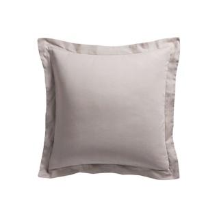 Taie d'oreiller Mastic - 100% coton 57 fils - 75 x 75 cm - Taupe