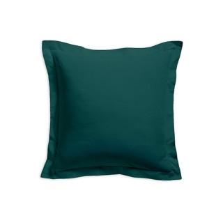 Taie d'oreiller - 100% coton 57 fils - 75 x 75 cm - Vert émeraude