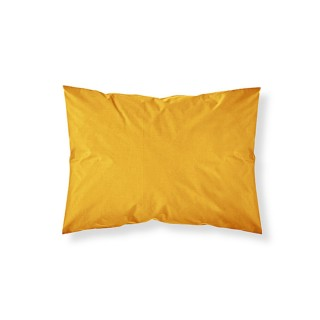 Taie d'oreiller - 100% coton 57 fils - 50 x 70 cm - Jaune safran