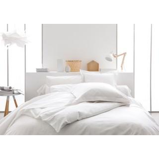 Parure de lit Chantilly - 100% coton - 220 x 240 cm - Blanc