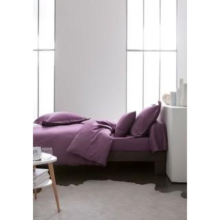 Parure de lit Figue - 100% coton - 220 x 240 cm - Violet
