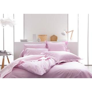 Parure de lit Poudre de lila - 100% coton - 240 x 260 cm - Rose