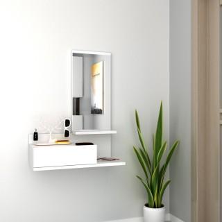 Meuble d'entrée design Mode - L. 60 x H. 80 cm - Blanc