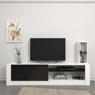 Meuble TV design Gomez - L. 180 x H. 43 cm - Noir