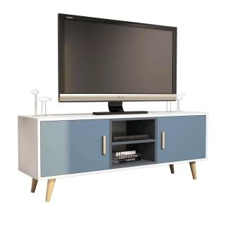Meuble TV design Safir - L. 150 x H. 57 cm - Gris
