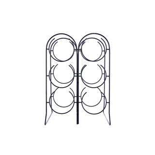 Range bouteille en métal filaire Wock - L. 39 x H. 21 cm - Noir