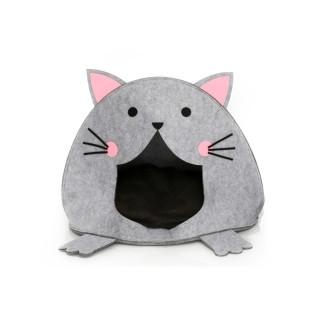 Panier pour chat Minou - L. 45 x H. 48 cm - Gris