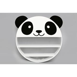Etagère murale enfant Wild Panda - Diam. 50 cm - Blanc