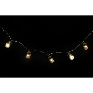 Guirlande lumineuse Bocaux - 10 LED - L. 140 cm - Noir