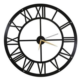 Horloge murale en métal Wall - Diam. 50 cm - Noir