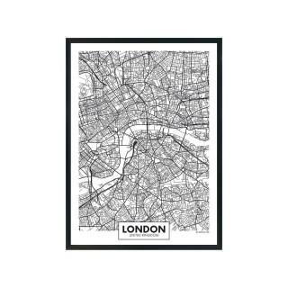 Tableau carte ville City Map - L. 33 x H. 43 cm - London