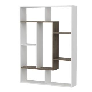 Bibliothèque design Liam - L. 110 x H. 136 cm - Blanc