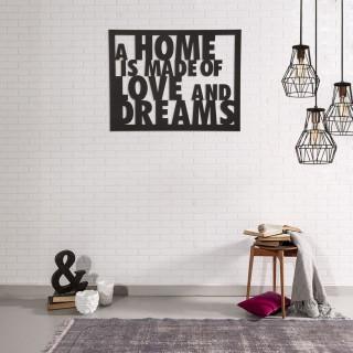 Décoration murale en métal - L. 70 x H. 57 cm - Home