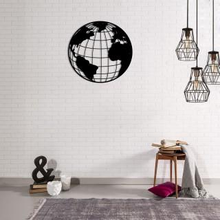 Décoration murale en métal - Diam. 42 cm - World