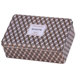 Boîte à sucre Organique - L. 20 x H. 6 cm - Gris