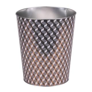 Poubelle en métal Organique - Diam. 22 x H. 26 cm - Gris
