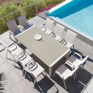 Table de jardin Absolu - 10 Personnes - Taupe