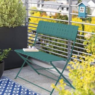 Banc de jardin pliable Nasca - L. 90 x H. 86 cm - Vert  yucca