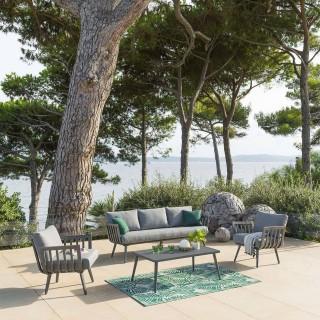 Salon de jardin Paradize - 5 Places - Gris