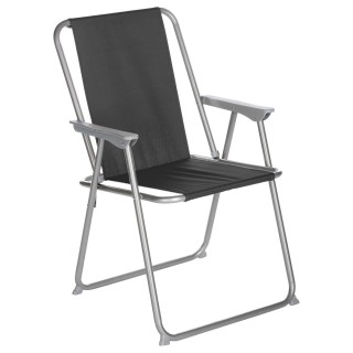 Chaise de camping Grecia - Pliable - Noir