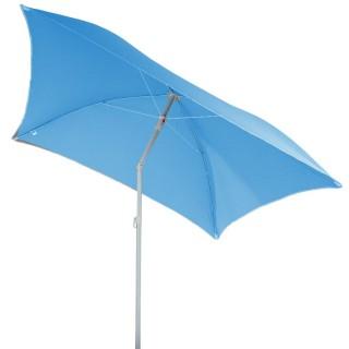 Parasol de plage carré Hélenie - L. 180 x l. 180 cm - Bleu clair