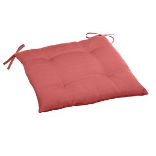 Galette de chaise 4 Boutons Esti - 40 x 40 cm - Rouge marsal
