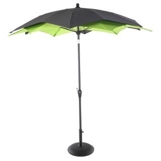 Parasol droit rond Raja - Inclinable - Diam. 270 cm - Vert