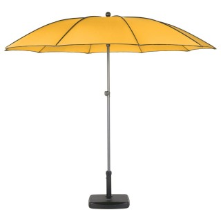 Parasol droit rond Bogota - Inclinable - Diam. 250 cm - Jaune safran